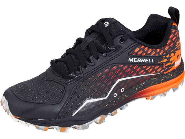 Merrell All Out Crush Tough Mudder Hardloopschoenen Dames oranje/zwart